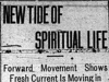"""New Tide of Spiritual Life: Forward Movement Shows Fresh Current Is Moving in Presbyterian Church"""