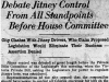 """Debate Jitney Control From All Standpoints Before House Committee"""