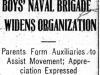"""Boys' Naval Brigade Widens Organization"""