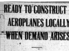 """Ready to Construct Aeroplanes Locally When Demand Arises"""