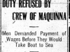 """Duty Refused by Crew of Maquinna"""