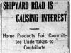 """Shipyard Road is Causing Interest"""