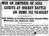 """Men On Empress of Asia Guests At Hockey Battle On Home Ice To-Night"""