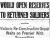 """Would Open Reserves to Returned Soldiers"""