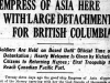 """Empress of Asia Here With Large Detachment for British Columbia"""