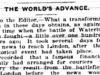 """The World's Advance"""