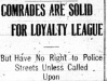 """Comrades are Solid for Loyalty League"""
