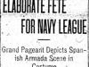 """Elaborate Fete For Navy League"""