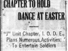 """Chapter to Hold Dance At Easter"""