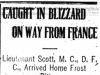 """Caught In Blizzard On Way From France"""