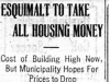 """Esquimalt To Take All Housing Money"""