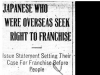 """Japanese Who Were Overseas Seek Right to Franchise"""