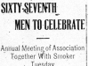 """Sixty-Seventh Men To Celebrate"""