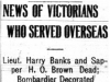 """News of Victorians Who Served Overseas"""