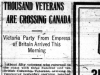 """Thousand Veterans Are Crossing Canada"""