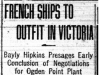 """French Ships to Outfit in Victoria"""