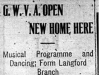 """G.W.V.A. Open New Home Here"""