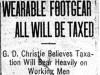"""""""Wearable Footgear All Will Be Taxed"""""""