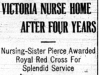 """Victoria Nurse Home After Four Years"""