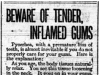 """Beware of Tender, Inflamed Gums"""