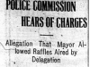 """Police Commission Hears of Charges"""