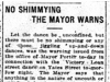 """No Shimmying, The Mayor Warns"""