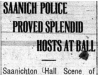 """Saanich Police Proved Splendid Hosts At Ball"""