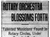 """Rotary Orchestra Blossoms Forth"""