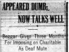 """""""Appeared Dumb, Now Talks Well"""""""