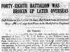 """Forty-Eighth Battalion Was Broken Up Later Overseas"""