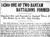 """143rd One of Two Bantam Battalions Formed"""
