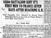 """103rd Battalion Sent Its First Men To France Seven Days After Reaching UK"""