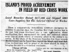 """Island's Proud Achievement In Field of Red Cross Work"""