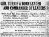 """Gen. Currie A Born Leader And Commander of Leaders"""