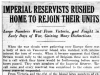 """Imperial Reservists Rushed Home To Join Their Units"""