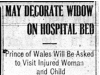 """""""May Decorate Widow On Hospital Bed"""""""