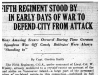 """""""Fifth Regiment Stood By In Early Days of War To Defend City From Attack"""""""