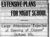 """Extensive Plans For Night School"""