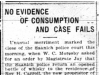 """No Evidence of Consumption and Case Fails"""