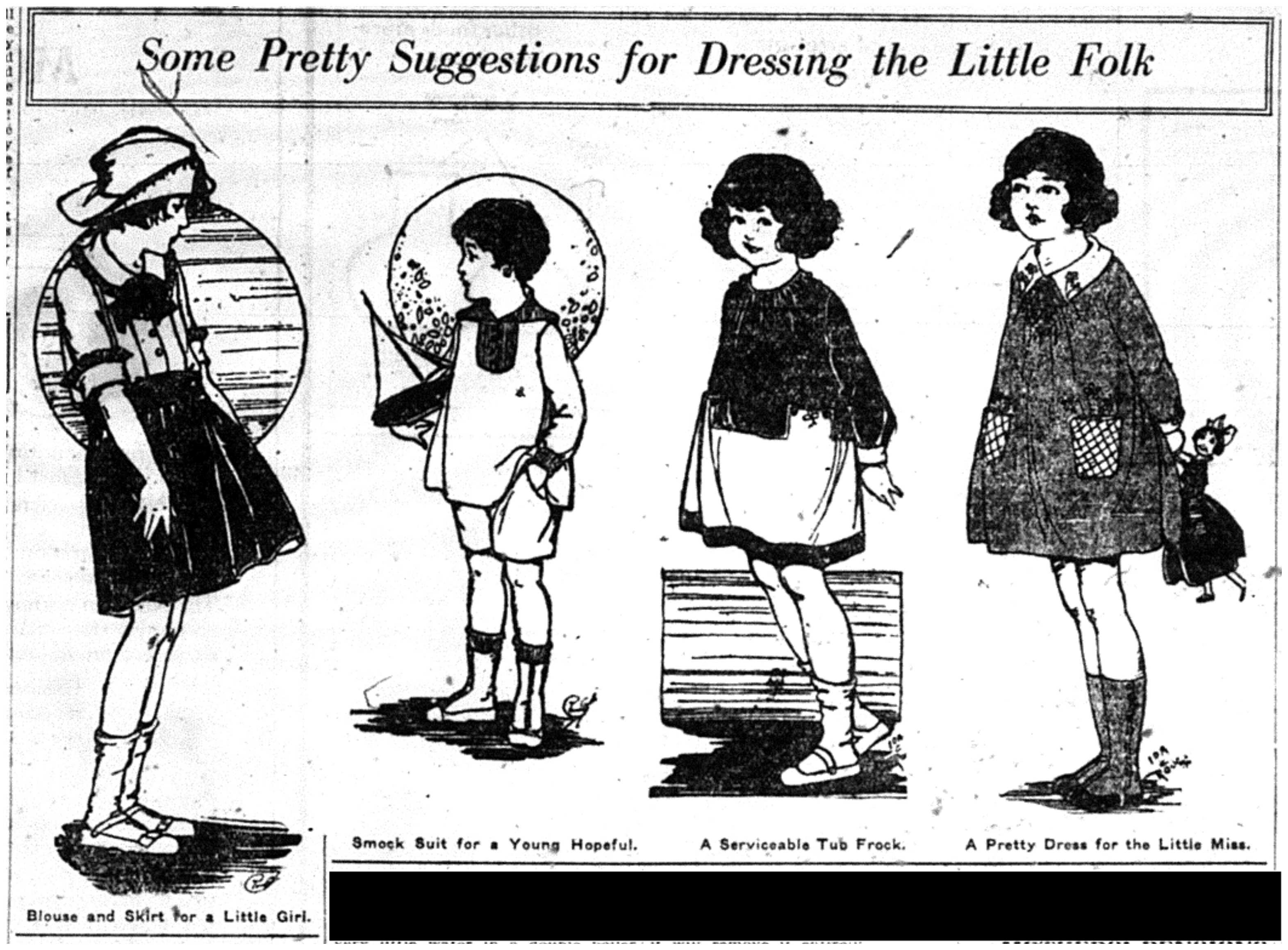 """Some Pretty Suggestions for Dressing the Little Folk"""