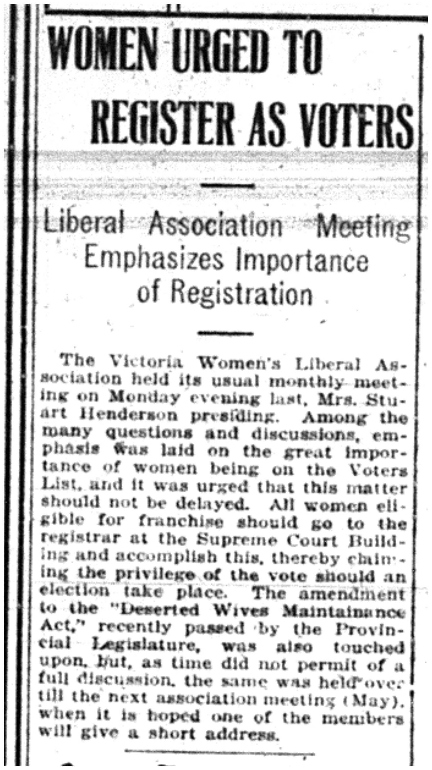 """Women Urged to Register As Voters"""