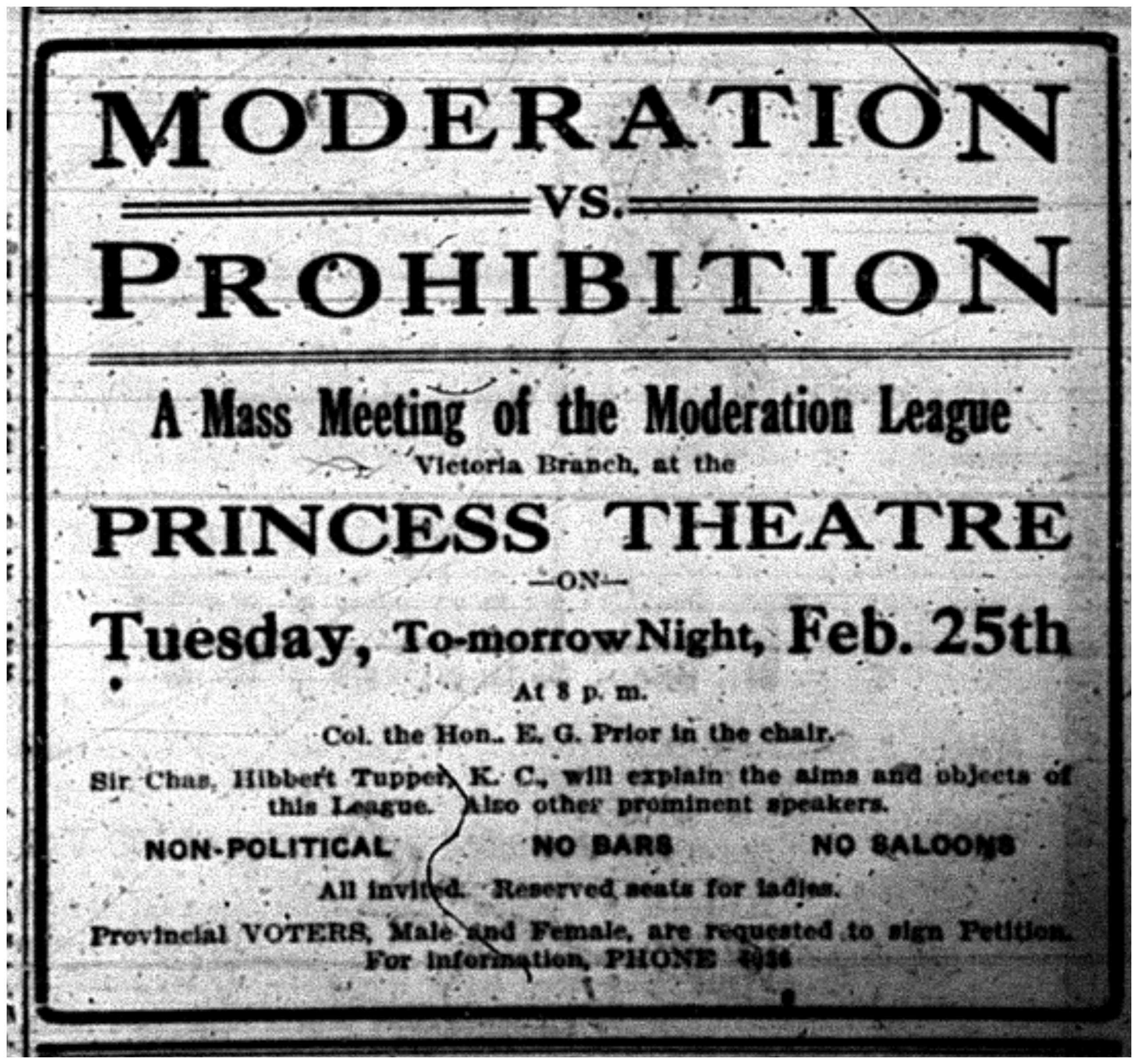 """Moderation vs Prohibition"""