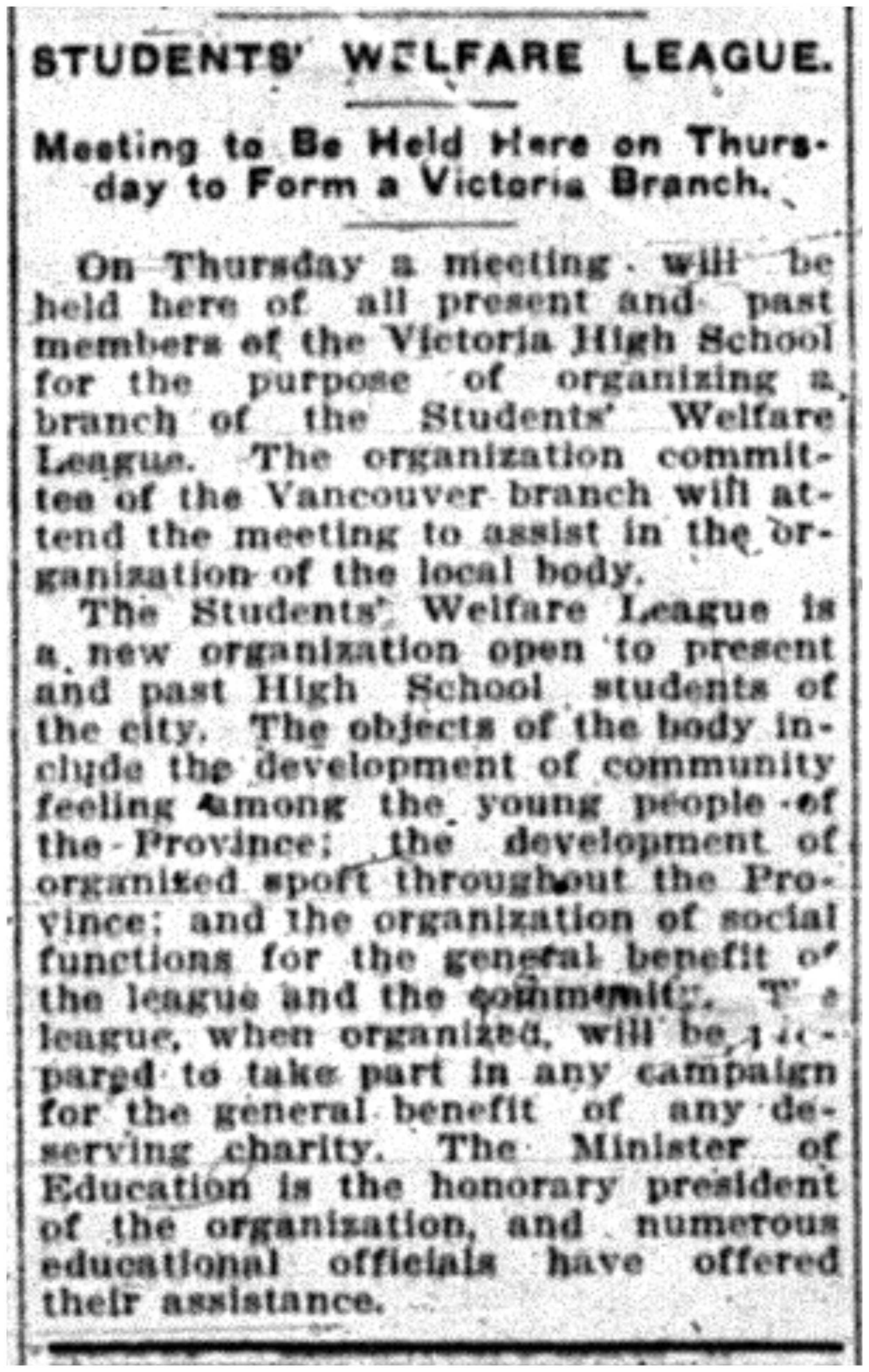 """Students Welfare League"""