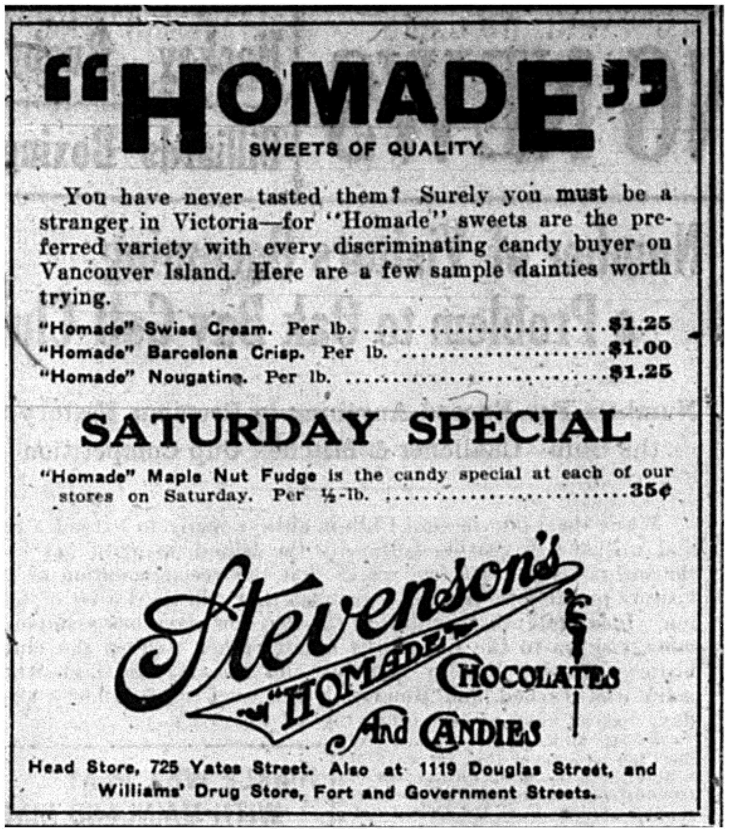 """""""'Homade Sweets of Quality"""""""