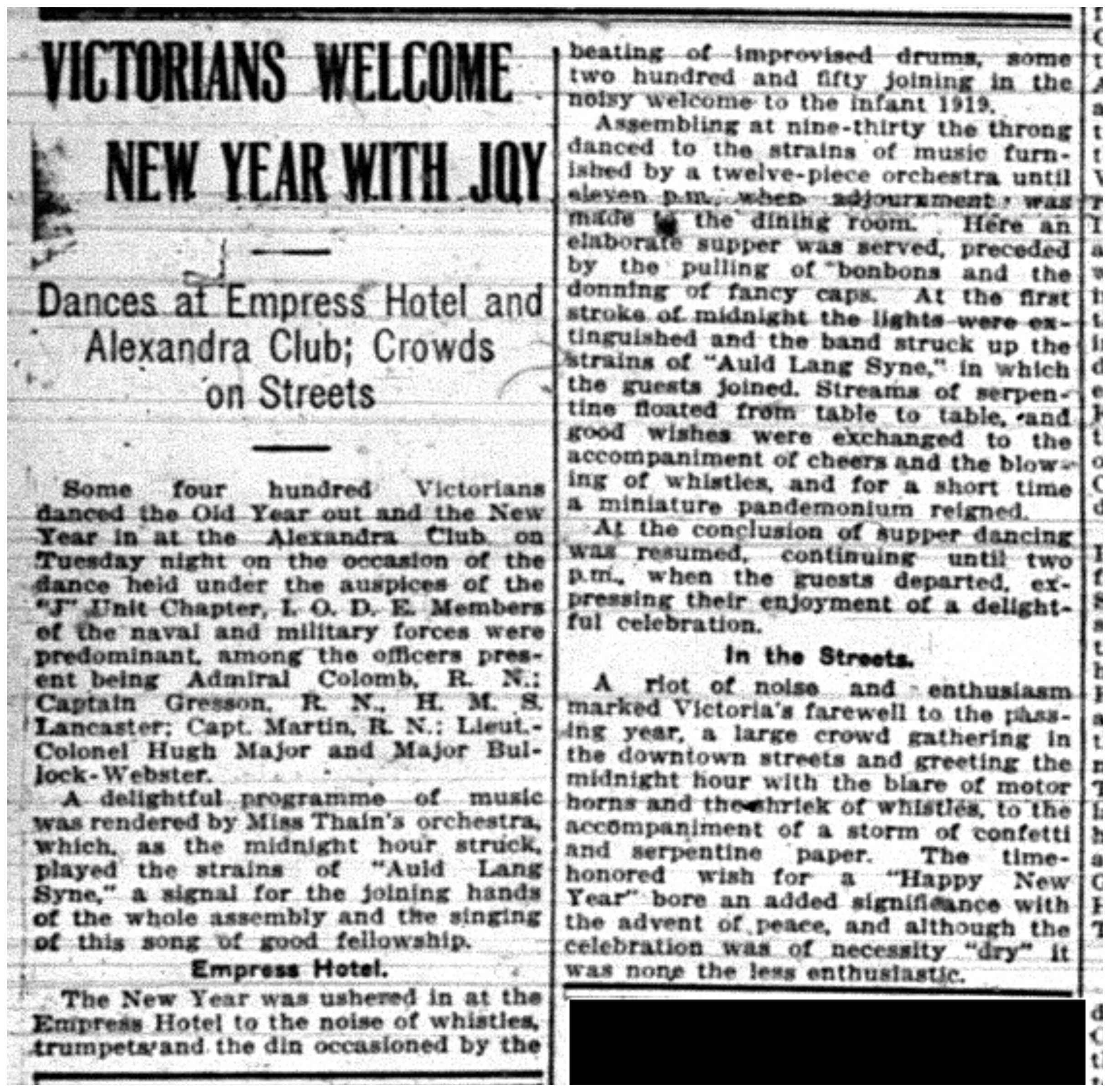 """Victorians Welcome New Year With Joy"""