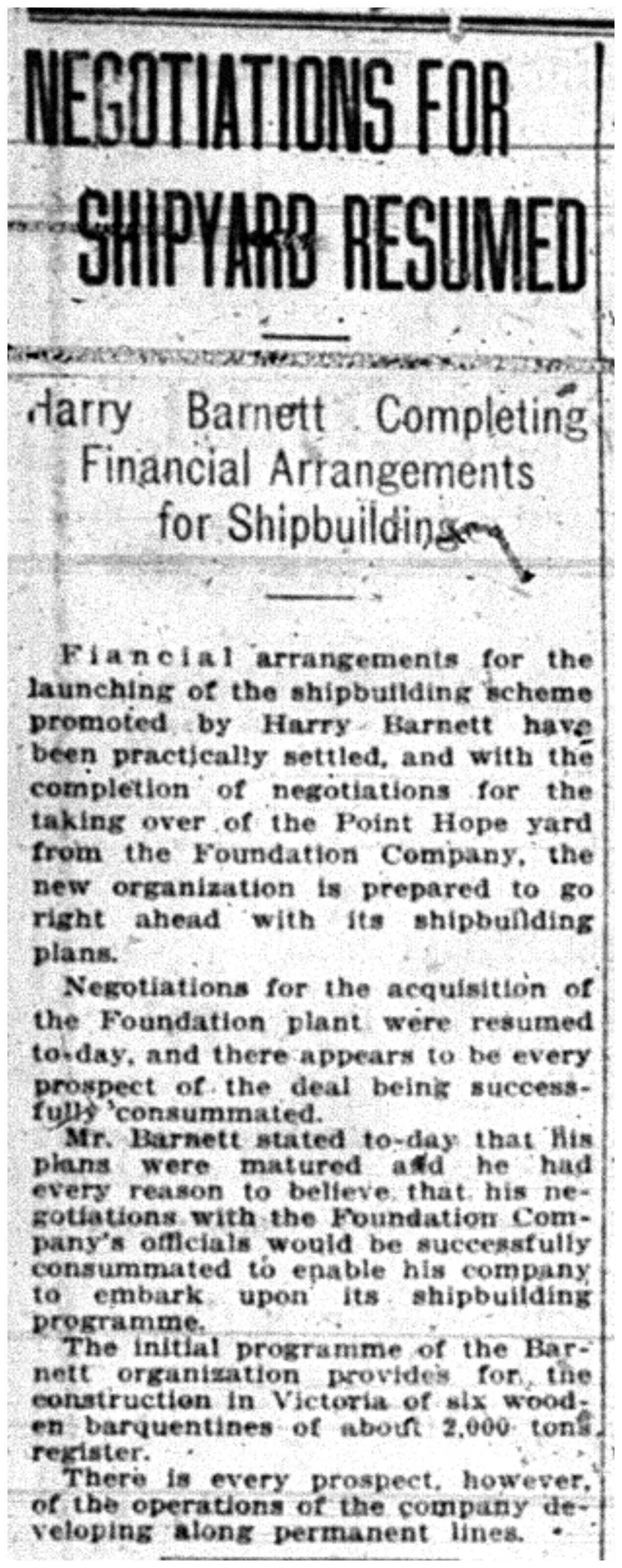 """""""Negotiations for Shipyard Resumed"""""""