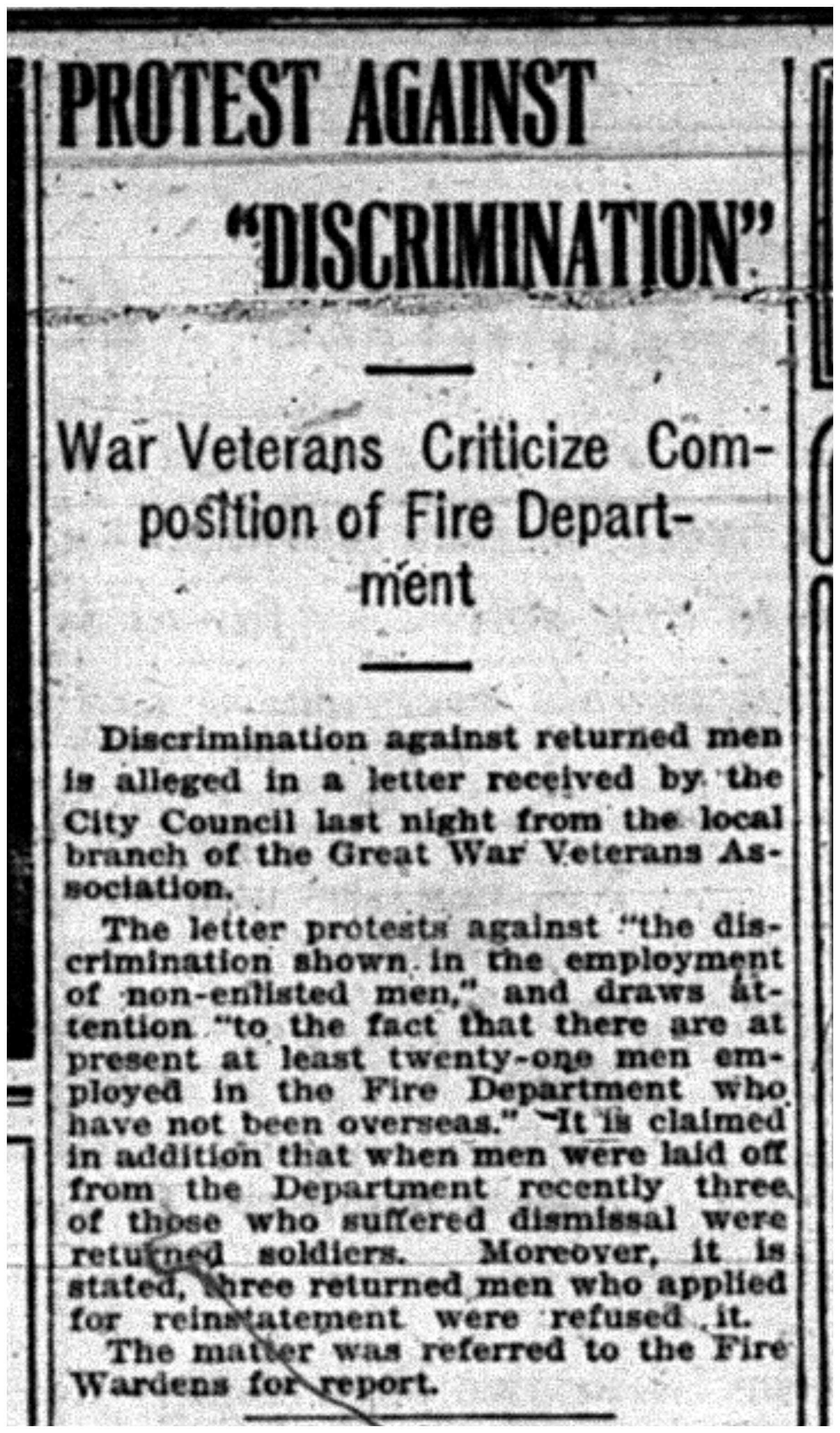 """""""Protest Against 'Discrimination'"""""""