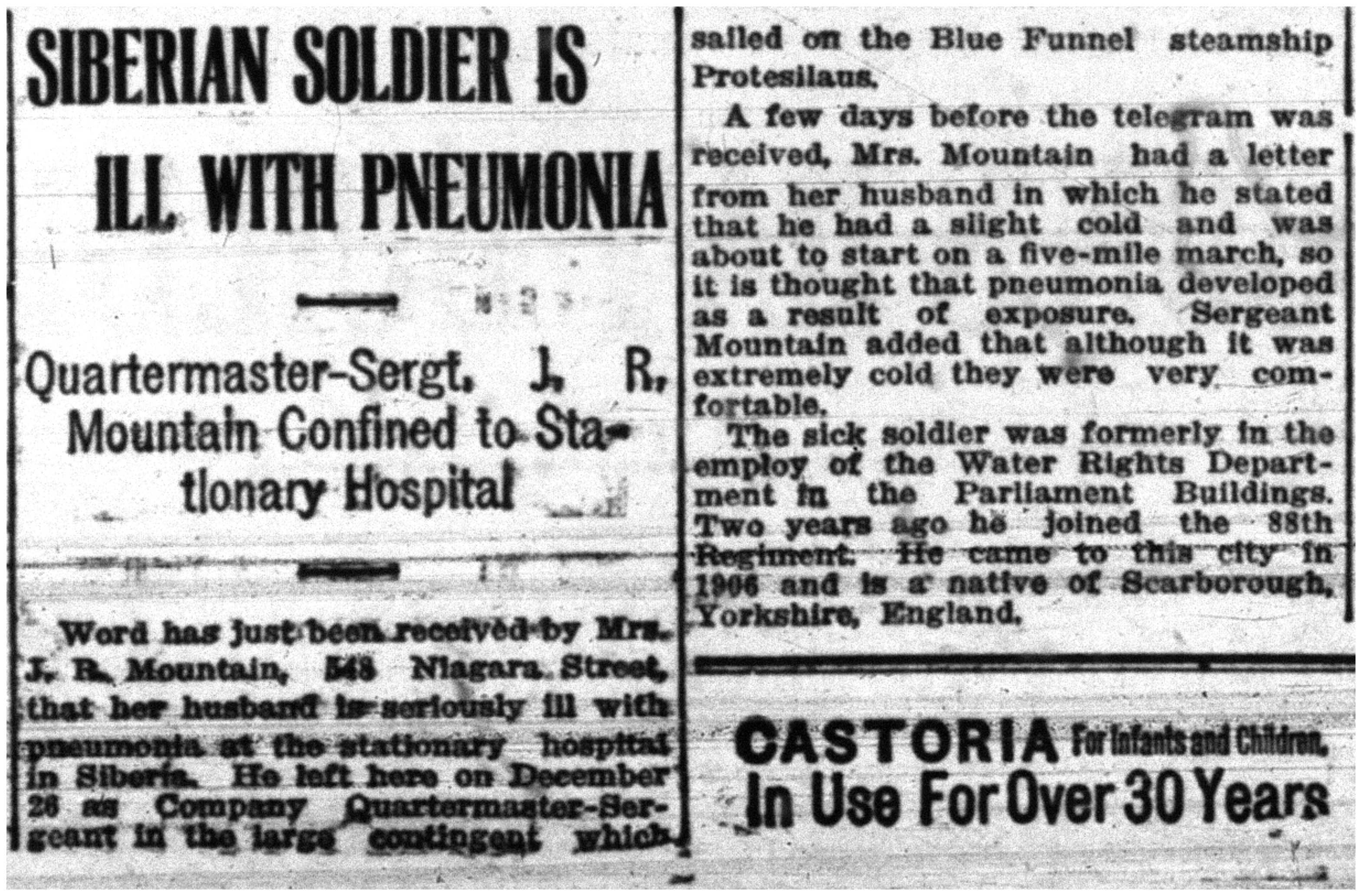 """Siberian Soldier Is Ill With Pneumonia""-jpg"