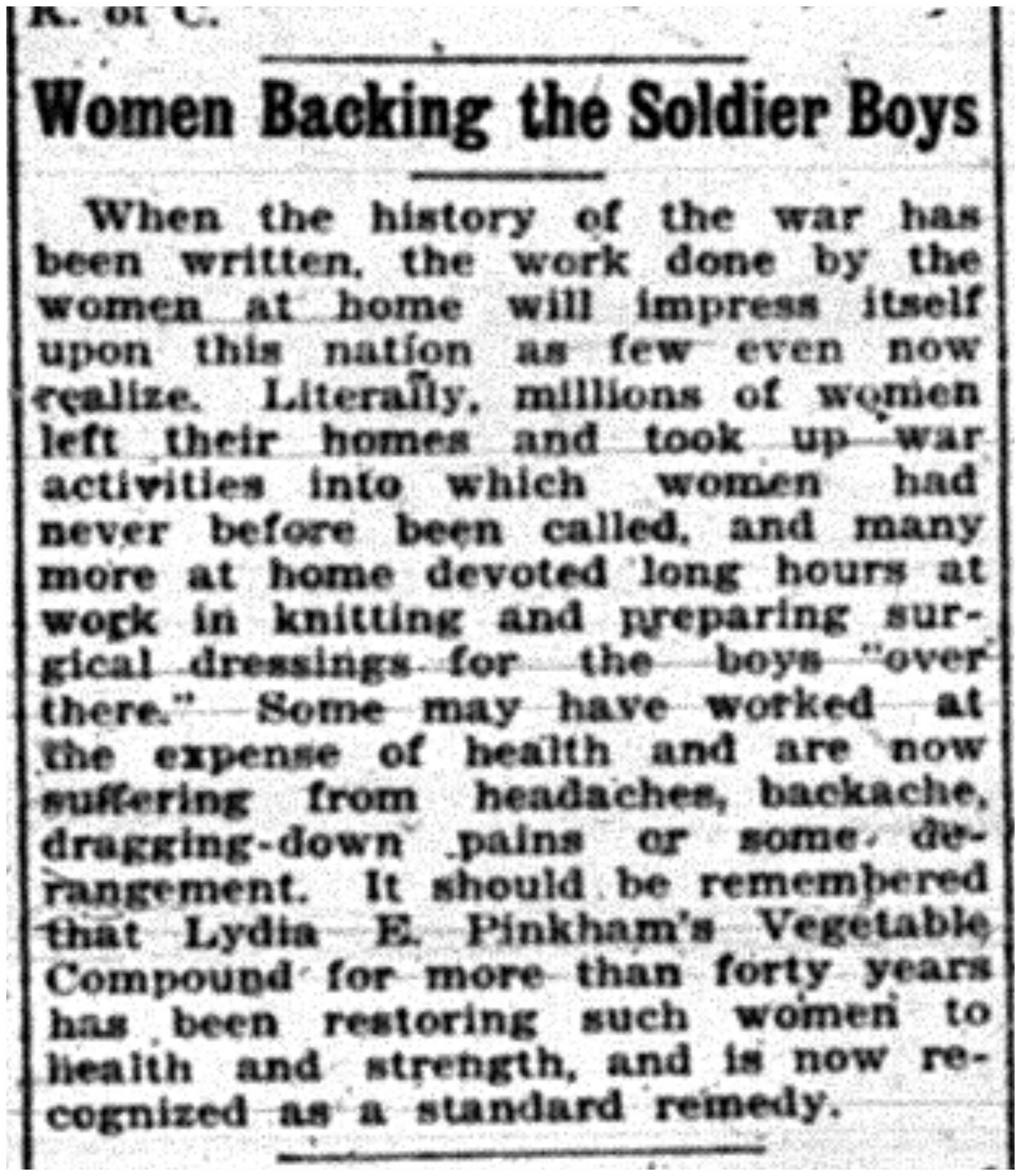 """Women Backing the Soldier Boys"""