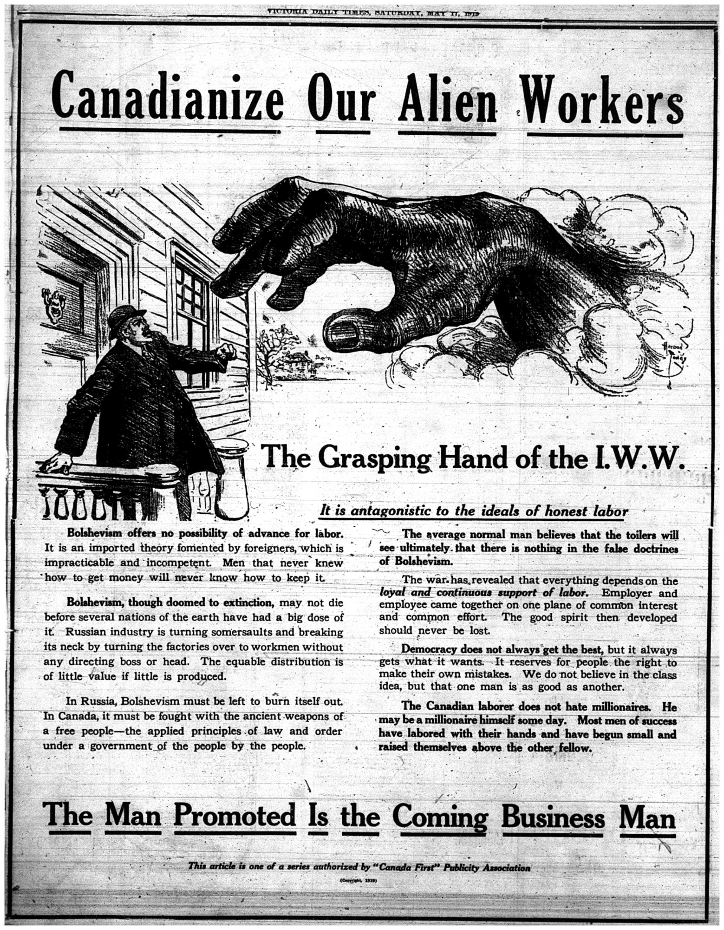 """Canadianize Our Alien Workers"""